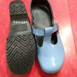 Lovely blue Sanita clogs